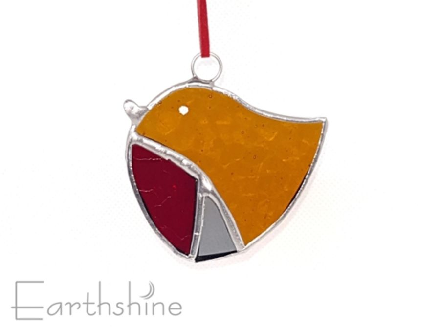 Stained Glass Robin Decoration