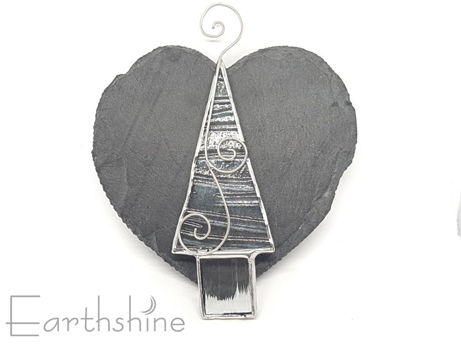Stained Glass Christmas Tree Decoration Small