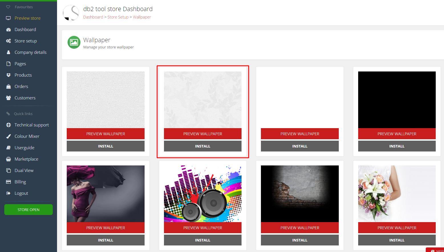 Dashboard2 0 Userguide > #11 > Install a new wallpaper