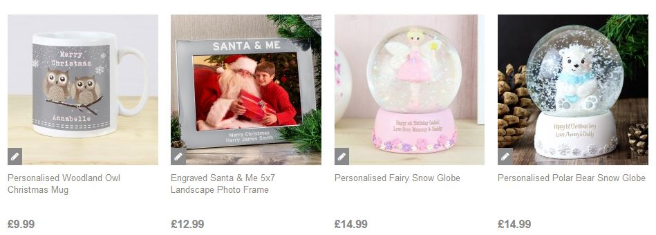 Personalised Christmas Gifts at present Company
