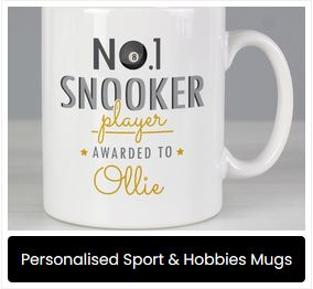 Personalised Sport & Hobbies Mugs at Present Company