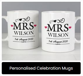 personalised Celebration Mugs at Present Company