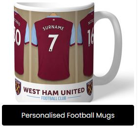 Personalised Football Mugs at Present Company