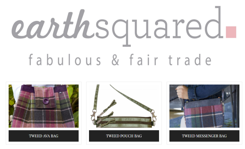 Earth Squared Tweed Handbags and Purses