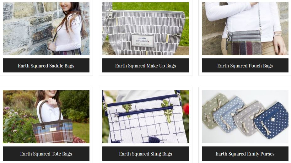 Earth Squared Tote Bags, Saddle Bags, Emily Puses, Sling Bags, Pouch Bags, Makeup Bags,