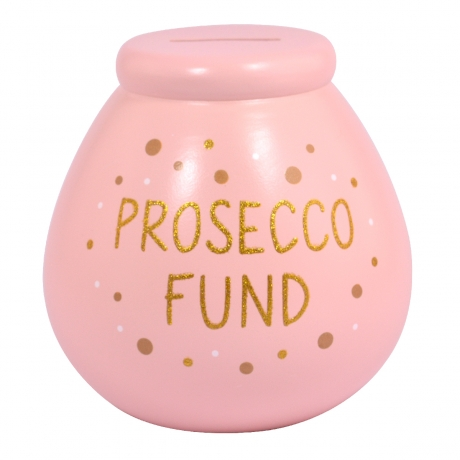 prosecco Fund Pot of Dreams Money Box