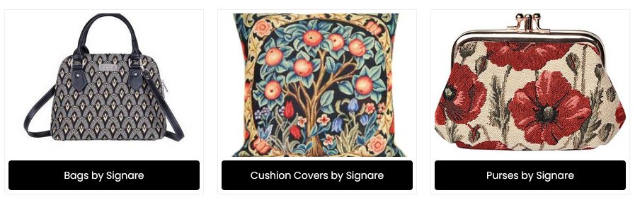 Signare Tapestry bags, Cushions & Purses