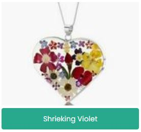 Shrieking Violet Silver Flower Jewellery