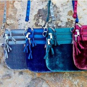 Velvet Pouch Bag by Earth Squared