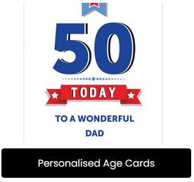 Personalised Age Cards