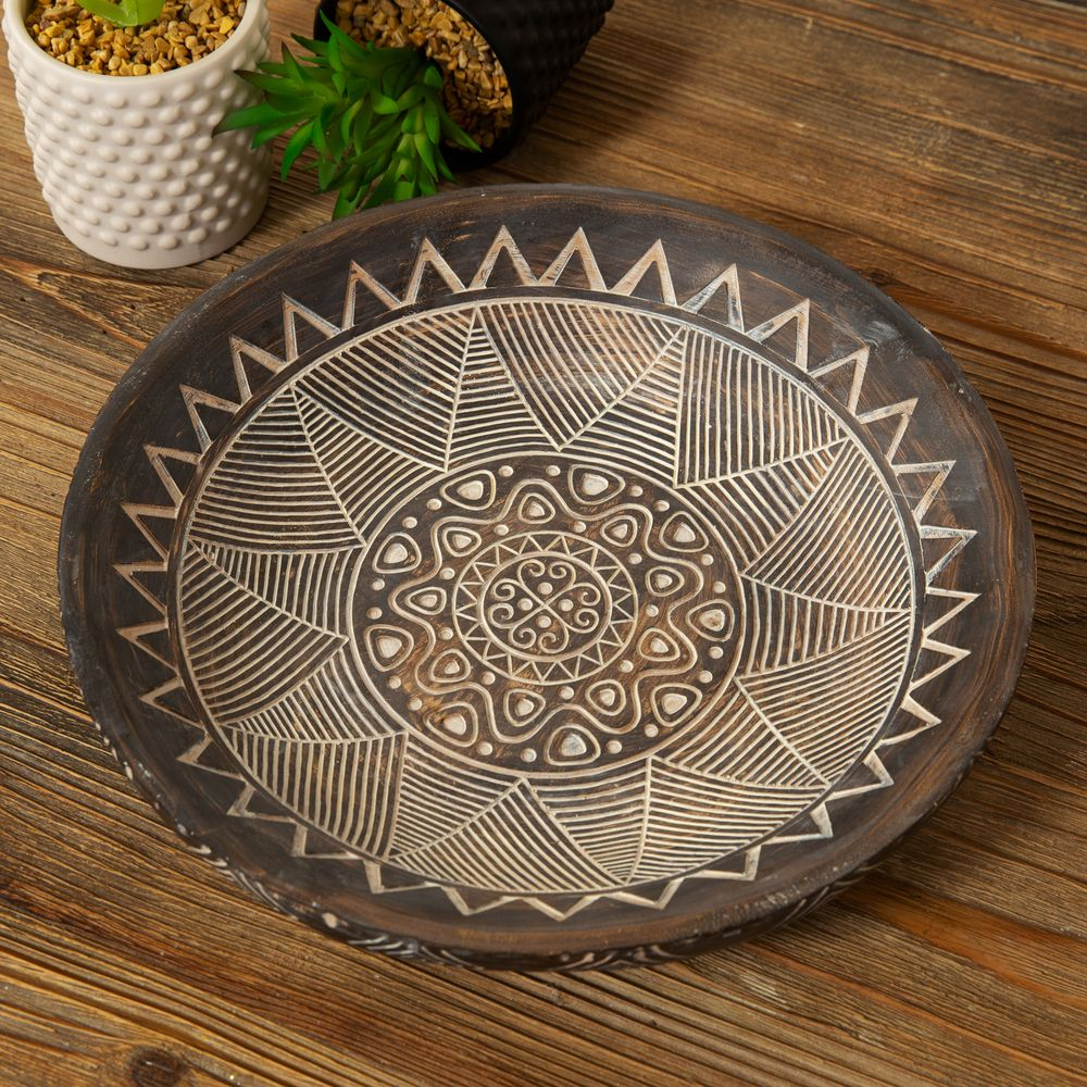 Aztec Patterned Decorative Bowl - 11.5cm