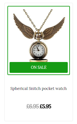 Take a look at the Snitch pocket watch offer
