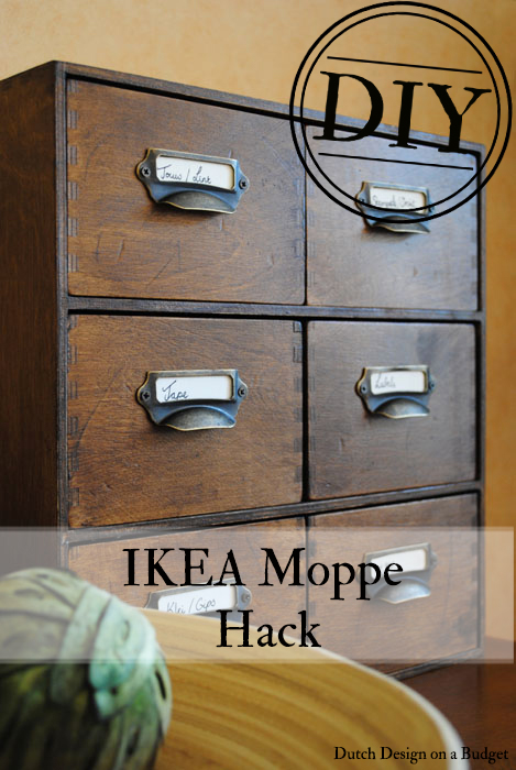MOPPE Ikea hack vintage card catalog