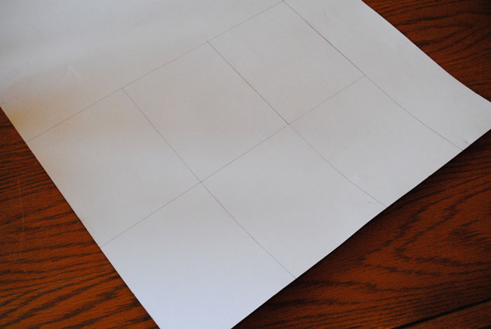 Lining paper marked for trimming