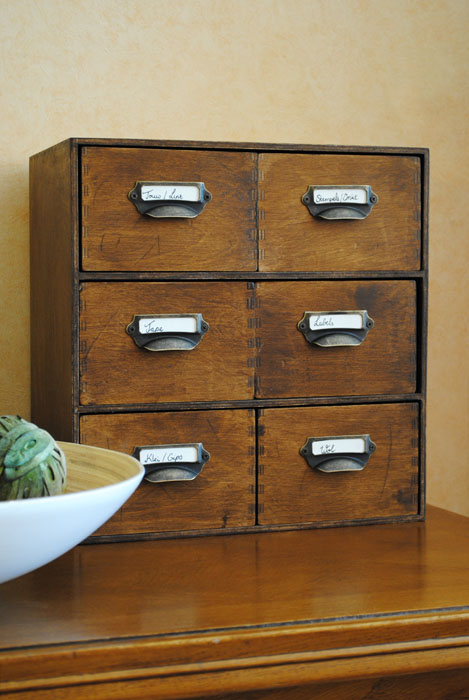 Close-up of finished drawer unit