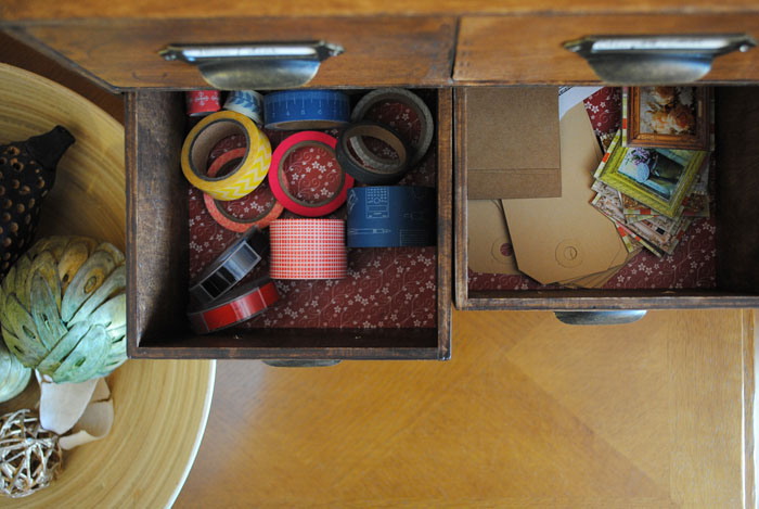 Another shot of the drawers showing contents