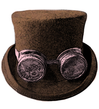 Illustration of a steampunk top hat