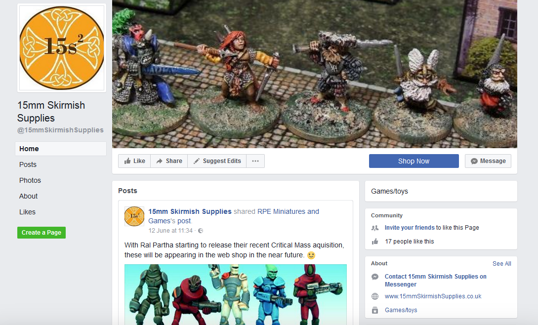 15mm Skirmish Supplies Facebook Page