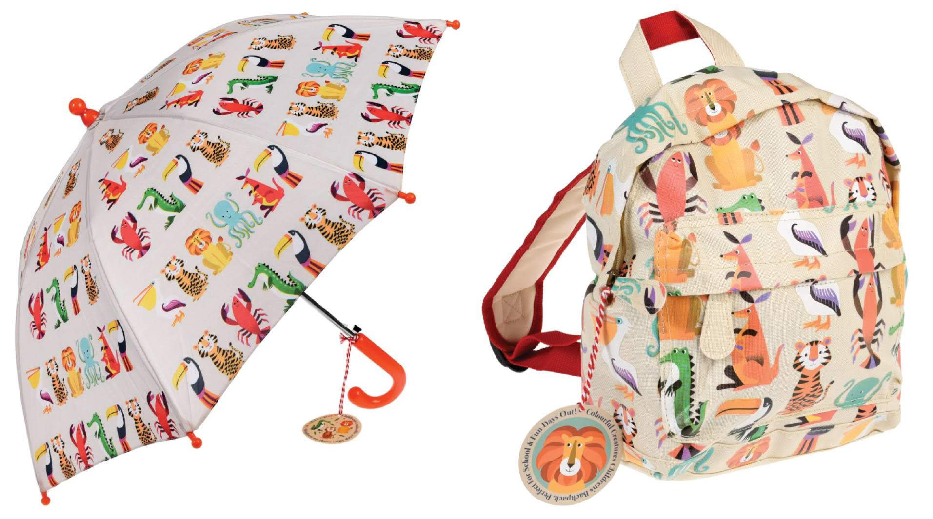 Busy Bee Backpack and Umbrella Set